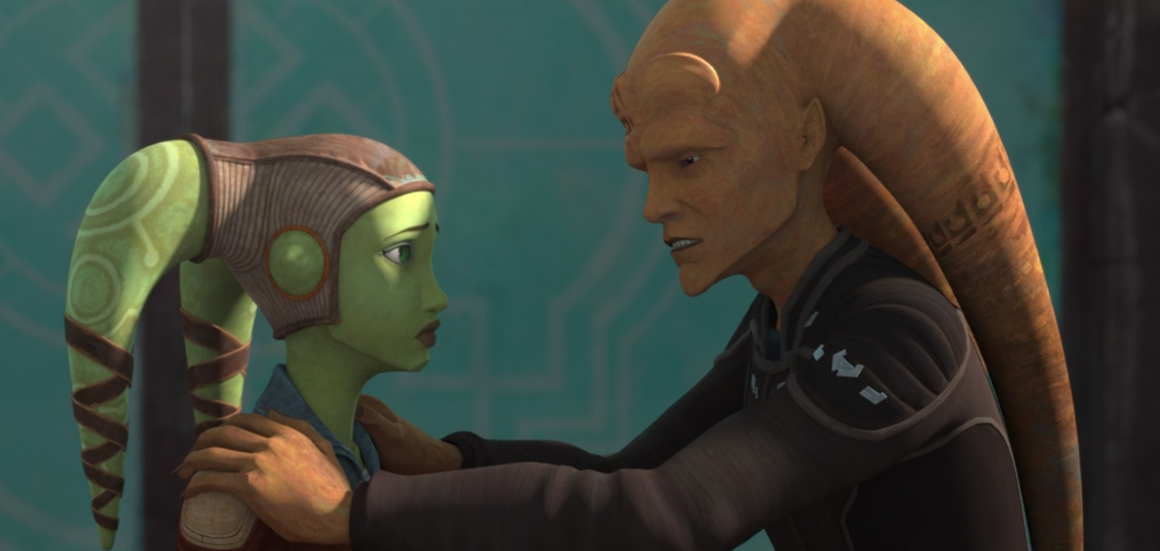 Hera and Cham Syndulla in The Bad Batch