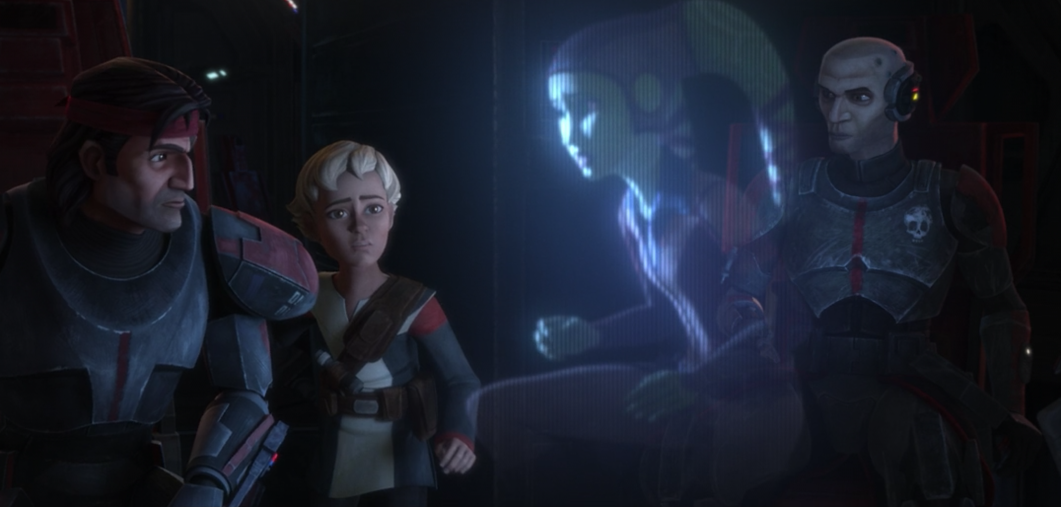 Hunter, Omega, Hera and Echo in The Bad Batch